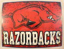 Arkansas Razorbacks Ncaa Distressed Metal Sign Wall Plaque New