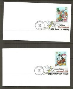 US SC # 3912-3915 Disney Characters FDC. Digital Cancel.  Ready For Cachet