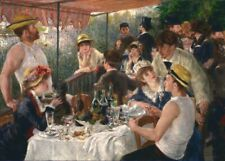Luncheon at the Boat Party, 1882, PIERRE-AUGUSTE RENOIR Impressionism Art Poster