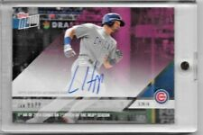 2018 TOPPS NOW IAN HAPP ON-CARD AUTO #17/25 1ST HR OF 2018 COMES ON 1ST PITCH