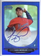 2013 Bowman Chrome Blue Refractor #LME Luis Merejo On Card Autograph #091/150
