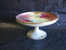 Vtg Royal Popi? Footed Candy Dish Nut or Jewelry Dish w/ Roses