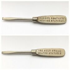 Bunges Service Station Advertising Screwdriver Elgin IL Tire Auto Steam Heat