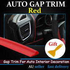8Ms Red Gap Trim Edge Garnish Line Auto Dash Door Decorative Strip Car Accessory