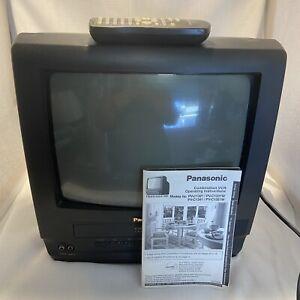 """Panasonic TV VCR Combo 13"""" PV-C1321 CRT Gaming Television Coax Remote & Manual"""