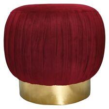 Greengate Stool Bordeaux Red Stand Gold Gate Noir Pouf Large Velvet Chair Socket