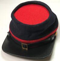 CIVIL WAR US UNION STATE MILITIA INFANTRY WOOL KEPI FORAGE CAP HAT-2XLARGE