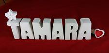 Beton, Steinguss Buchstaben 3D Deko Namen TAMARA als Geschenk verpackt!