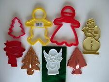 Christmas Cookie Cutter Wilton gingerbread man girl vintage snowman angel lot 8