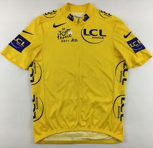 Tour de France maillot jaune 2011 Philippe Gilbert LCL Banque yellow jersey Nike