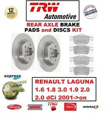 FOR RENAULT LAGUNA 1.6 1.8 3.0 1.9 2.0 2.0 dCi 2001->on REAR BRAKE PADS + DISCS