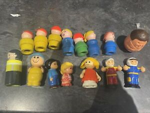 15 Vintage Figures Fisher Price Weebles Chad Valley Big Yellow Teapot