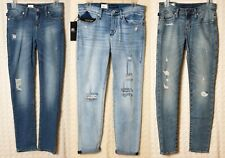 NWT ROCK & REPUBLIC Skinny Jeans DISTRESSED SHREDDED Berlin Blue Denim Cotton 16