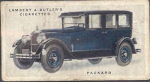 Lambert & Butler - Motor Cars, 3rd Series - 36 - Packard