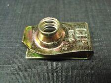"25 pcs yellow zinc foldover ""U"" panel nuts 1/4-20 short fits dodge Chrysler"