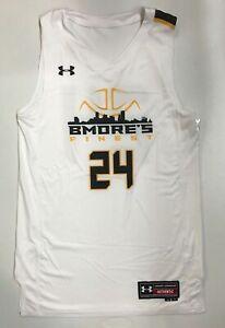 Under Armour Bmore's Finest Baltimore Basketball Jersey #24 Men's M White UJJASM
