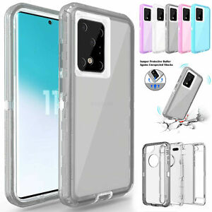 Clear Defender Case For Samsung Note 20 10 98 Ultra Plus S20 S10 S10e S8S9 Cover