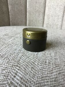 Antique Small Metal & Glass Inkwell