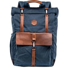 Timberland Walnut Hill 24L Waxed Canvas Roll Top Backpack NEW Navy