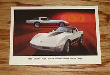 Original 1982 Chevrolet Corvette Coupe / Collector Edition Coupe Post Card Chevy