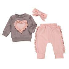 Toddler Baby Kids Girl Clothes Top T-shirt Pants Leggings Outfits 3PCS Sets USA