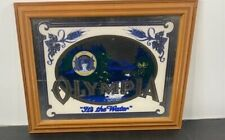 "Vintage Olympia Beer Mirror Sign Pale Export ""Its the Water"" Wood Framed 15""x19"""