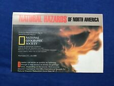 National Geographic Map of Natural Hazards of North America. (July, 1998) poster