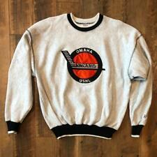 Rare VTG 90s The Game Omaha Lancers USHL Minor League Hockey Sweat Shirt XL