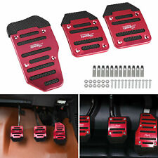 1 Set Durable Universal Red Pedals Pad Cover Car Interior Decor Car Accessories