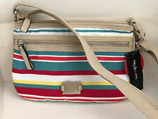 NEW ARRIVAL! STYLE & CO. STRIPE PRINT PASSPORT CROSSBODY SLING BAG PURSE $53