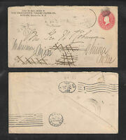 1899 THE PEQUANNOCK VALLEY PAPER BUTLER NJ US STAMPED ENVELOPE ADVERTISING COVER