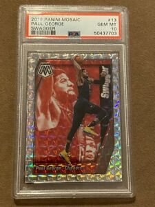 2019 Panini Mosaic Paul George #13 Swagger PSA 10 Clippers