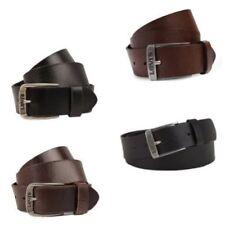 Cinturones de hombre negras Levi's de piel