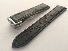 20mm Leather watch band strap for omega speedmaster seamaster & 18mm fold clasp