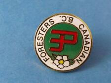 CANADIAN FORESTERS CLUB BC CANADA PIN VINTAGE BOWLING COLLECTOR BUTTON