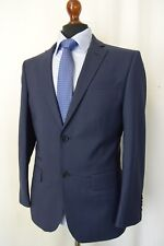 Men's New Alexandre Savile Row Navy Check Tailored Fit Suit 38S W32 L29 AA1573