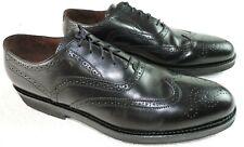 E T Wright Mens 13 A Oxford Wingtip Black Leather Vibram Gumlite Dress Shoes