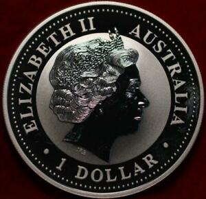 Uncirculated Proof 2001 Australia .999 Silver $1 Snake Foreign Coin