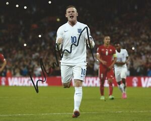 Wayne Rooney Signed 8×10 Photo Team England World Cup Soccer Autographed COA