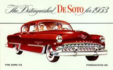 Print. Red 1953 DeSoto Fire Dome V-8 4D Sed Auto Advertisement