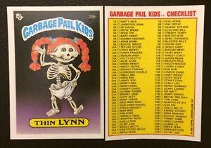 Thin Lynn 29b UK Garbage Pail Kids Series 1(1985) Checklist~NMT/MINT~Pack Fresh