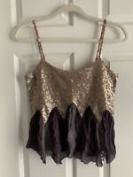 Small Gimmicks By Bke The Buckle Sequin Tank Top Boho Braided Cami Shirt Hippie
