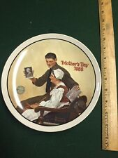 """Norman Rockwell Collectible Plate """"Mother's Day 1988"""" My Mother Limited Edition"""