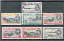 ASCENSION GEORGE VI DEFINITIVES 7 stamps to 3d Rare Mounted Mint Collectable Set