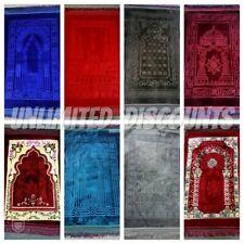 New Soft Luxury Muslim Religious Islamic Prayer Mat Velvet Musallah Janamaz Rug