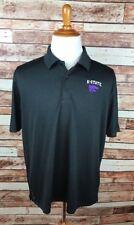 Kansas State K-State Wildcats LARGE Black Athletic Golf Polo Shirt Champion NWT