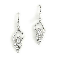 Jody Coyote Earrings JC0337 new Geode GEO-0113-05 silver cz cubic zirconia