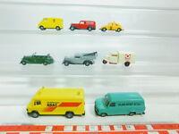 BN180-0,5# 8x Praliné H0/1:87 Modell: MB/Mercedes+VW+Ford+DKW+Tempo, NEUW