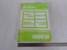 manuale uso manutenzione originale owner's Suzuki RGV 250 vj 21 1989 gamma vj21