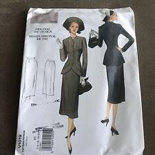 Vogue Vtg Model 1947 Design Sewing Pattern V1019 Jacket Skirt Sz 14 16 18 20 22
